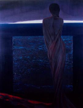 Bekleyen. T.Ü.Y.B. 135 x 105 cm. 1996.