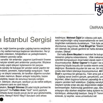 2009, 25; 28. Günümüz Sanatçıları İstanbul Sergisi