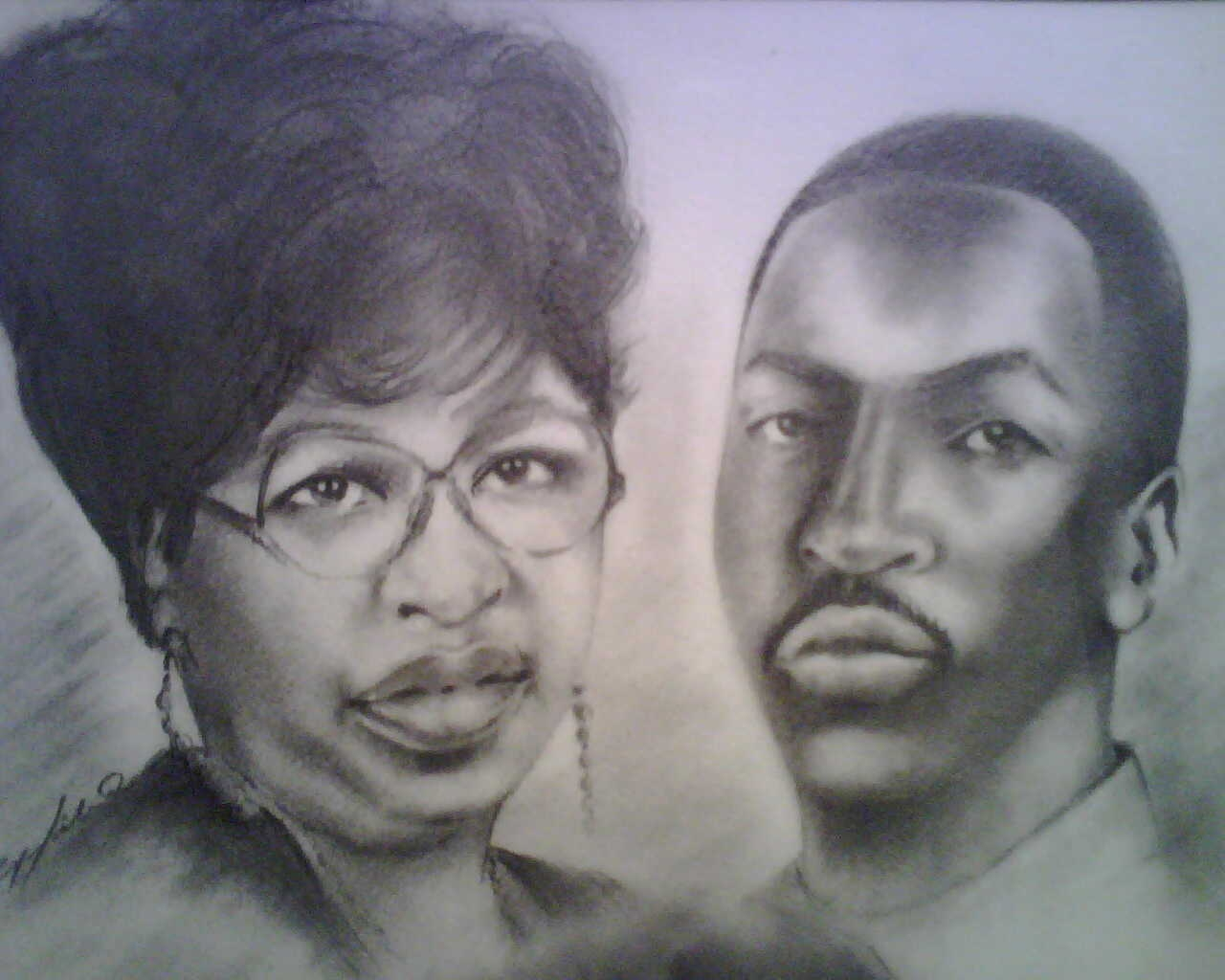 """Aunt Francis & Darnell"" - Portrait"