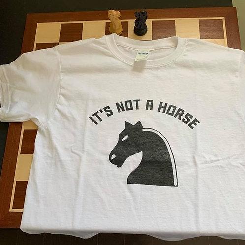 "100% cotton chess-design T-shirt""Knight"""