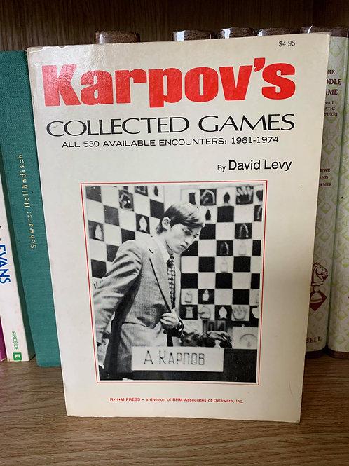 KARPOV'S COLLECTED GAMES. DAVID LEVY.
