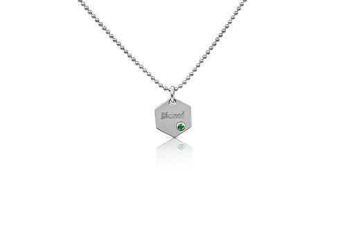 "Honeycomb ""Blessed"" Pendant in Sterling Silver PN 061 EM"