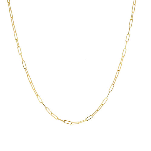 14K Gold mini link chain necklace 16""
