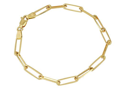 """14K Gold Medium link chain bracelet 7"""""""