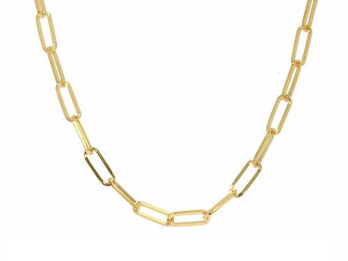 "14K Gold Medium link chain necklace 16"""