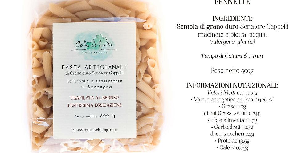 CODA DI LUPO Pasta artigianale Pennette