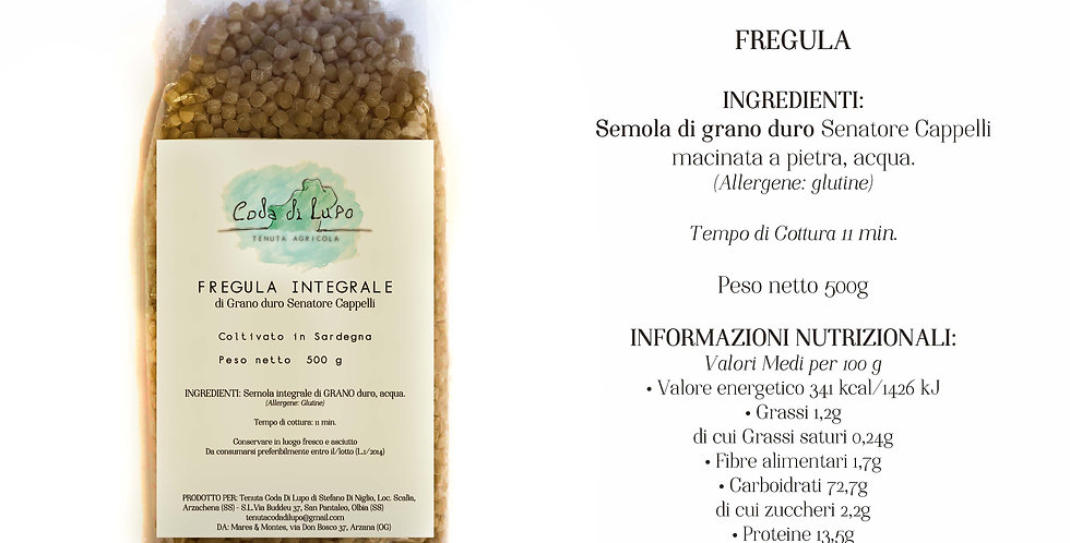 CODA DI LUPO Pasta artigianale Fregula Integrale