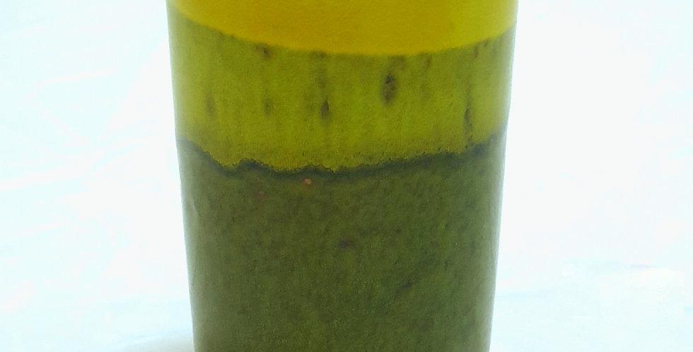 LITTLE STREET Bicchiere ceramica giallo/verde