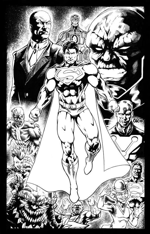 Superman Pin-Up Inks
