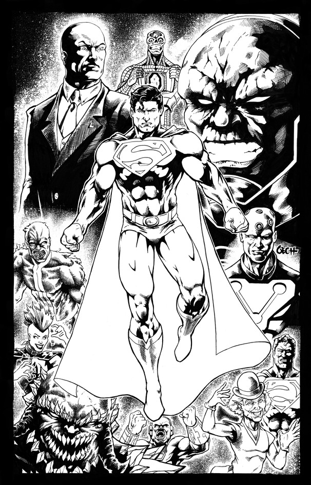Superman Pin-Up Inks