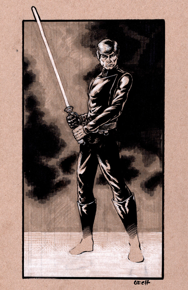 Jedi Master Luke Skywalker Pin-Up