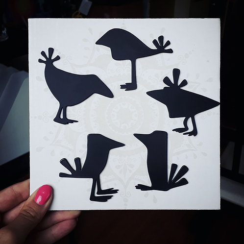 Sada ptačích magnetů