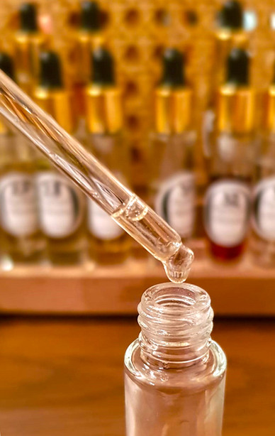 Drop of a natural fragrance