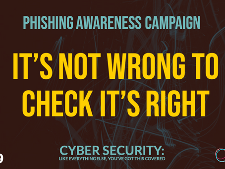 Our phishing awareness campaign for the CV19 Cyber Volunteers