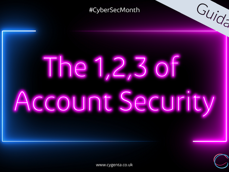 The 1,2,3 of Account Security