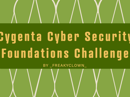 Cygenta Cyber Security Foundations Challenge