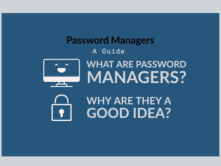 What a password manager is and why it's a good idea