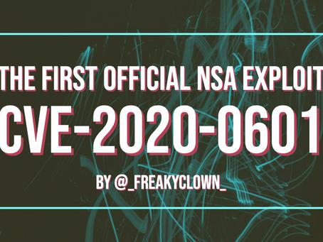 The First Official NSA Exploit (CVE-2020-0601)