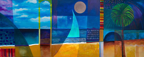 Artwork by Richard Morgan colourful seascape