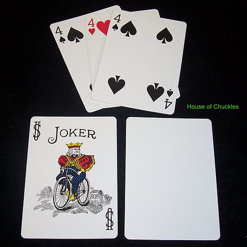 Three Card Monte Trick, Bicycle Standard Index