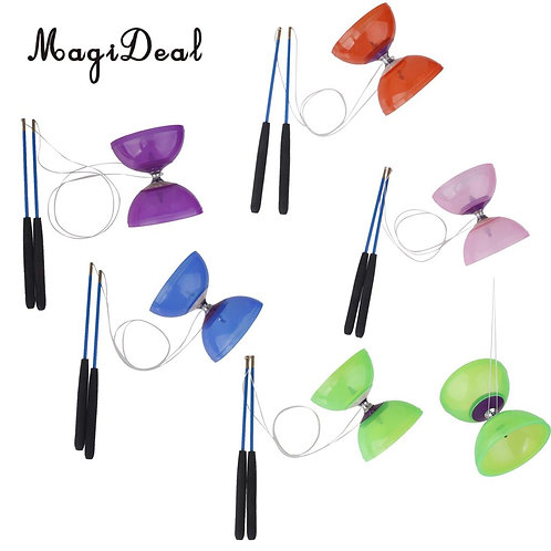 MagiDeal Rubber 5-Bearing Diabolo With Handsticks & String Juggling Classic Toy
