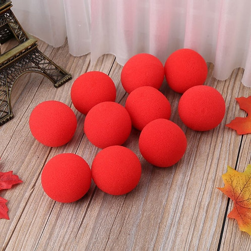 10PCS 4.5cm Finger Magic Tricks Props Sponge Balls CloseUP Street Illusion S