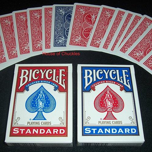 Red & Blue Trick Decks, Bicycle Standard Index