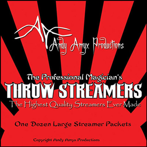 Throw Streamers by Andy Amyx( 1dozen=1 unit)