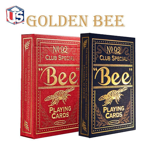 1 Set High Quality Bee Golden Deck Bicycle Magic Playing Cards Poker