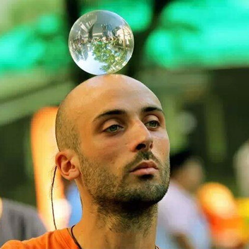 100mm/10cm Contact Juggling Ball Crystal 100% Acrylic Ball Manipulation Juggling
