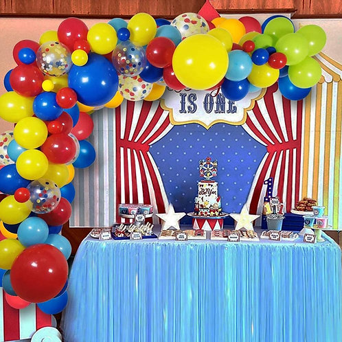 110 Pack Circus Party Decorations Balloons Arch Garland for Birthday Party