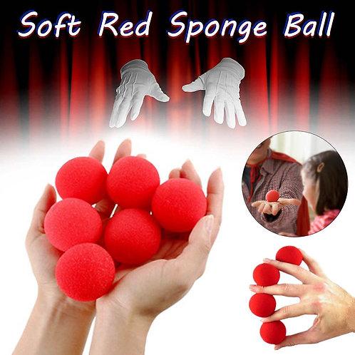 4.5cm Large Sponges 5/10/30 Pieces Red Sponge Balls Funny Props Magic Props