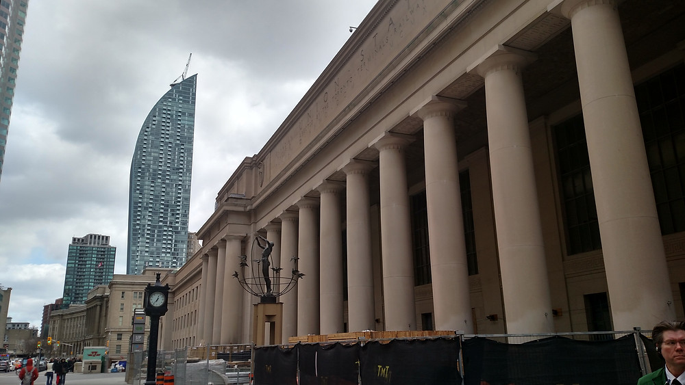 Outside the Union Station in Toronto