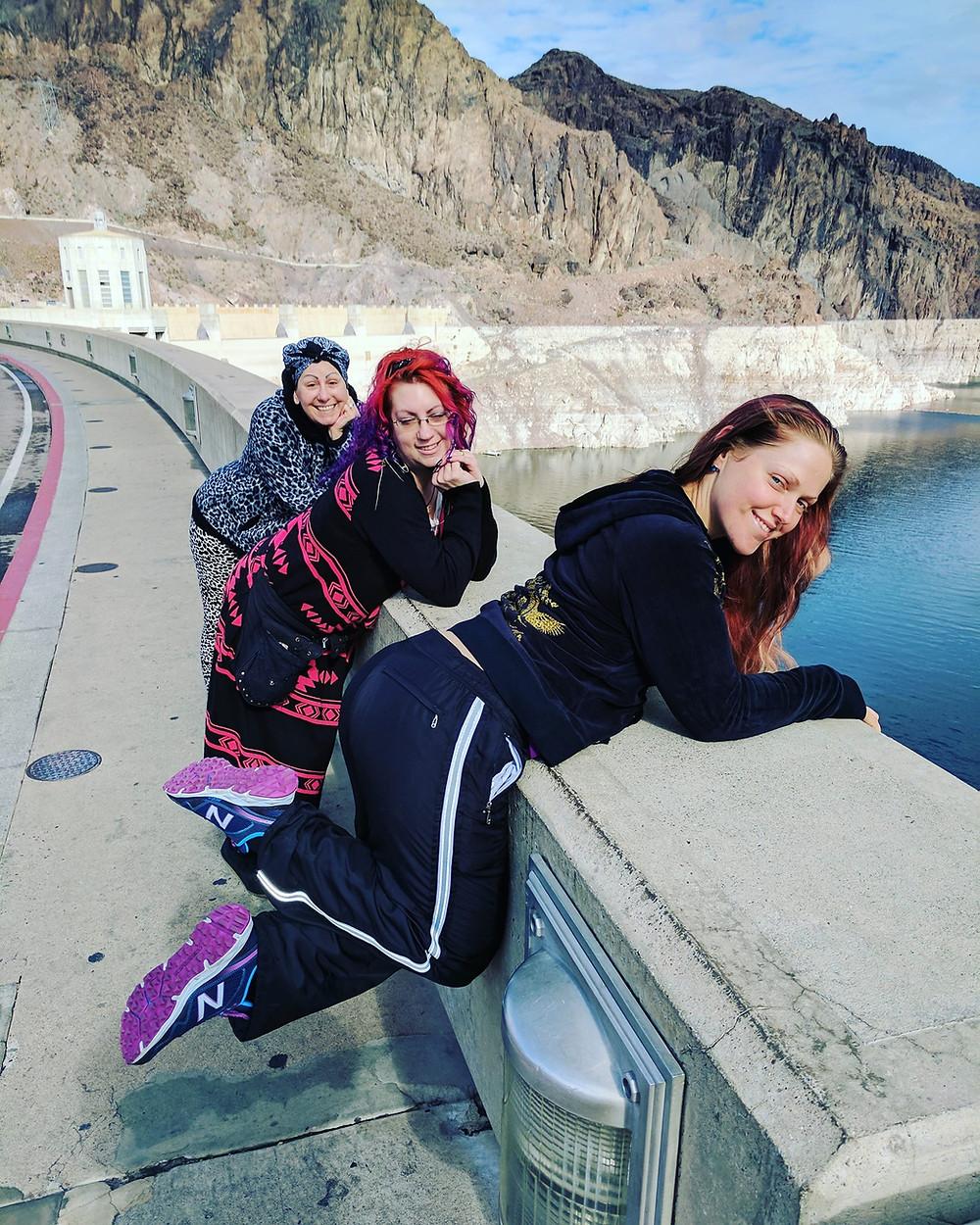 acrobatics on the Hoover dam