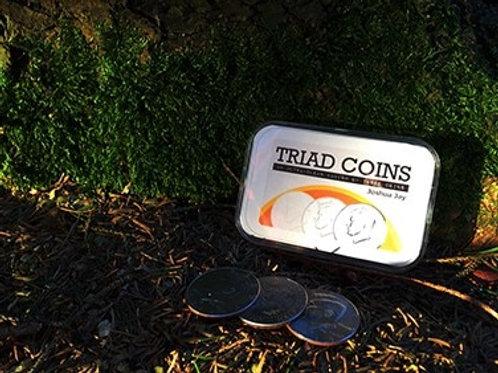 Triad Coins by Joshua Jay Magic Tricks