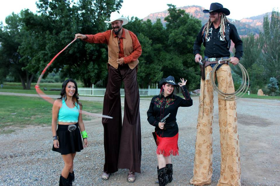 Private event in Colorado with some excellent people!  Magic, card tricks, cowboys, gunfighs, and more!