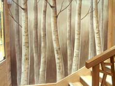 SPA hotel le kaila fresque de bouleaux.j