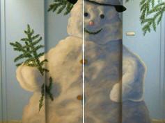 ascenseur bonhomme de neige vue d'ensemb