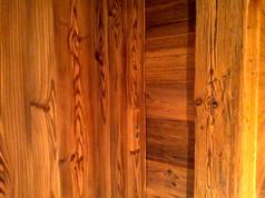 porte d'ascenseur detail faux vieux bois