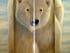 ascenseur detail ours blanc courchevel.J