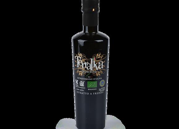 Bio Extravergine Olivenöl Cherubino, IGP Sizilien, 0,5l Flasche in Etrusker Glas