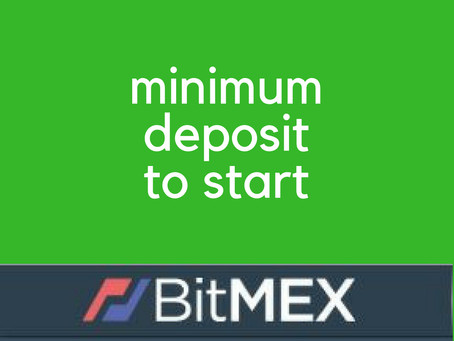 What is minimum initial deposit to start trading Bitcoin on BitMEX live account?