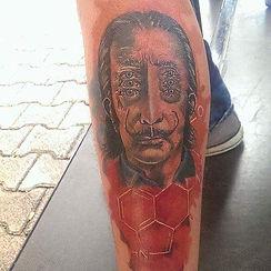salvador dali tattoo tetovaza
