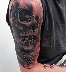 skull tattoo tetovaza