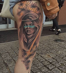 side leg tattoo tetovaza