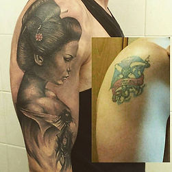 geisha tattoo cover up tetovaza