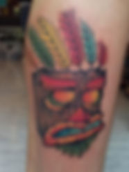 crash bandicoot color tattoo tetovaza