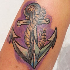 color anchor tattoo tetovaza