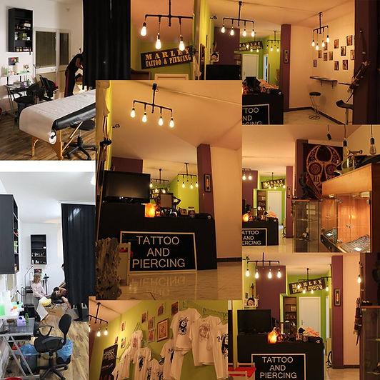 Marley tattoo ad piercing Shop , tattoo studio interior ,