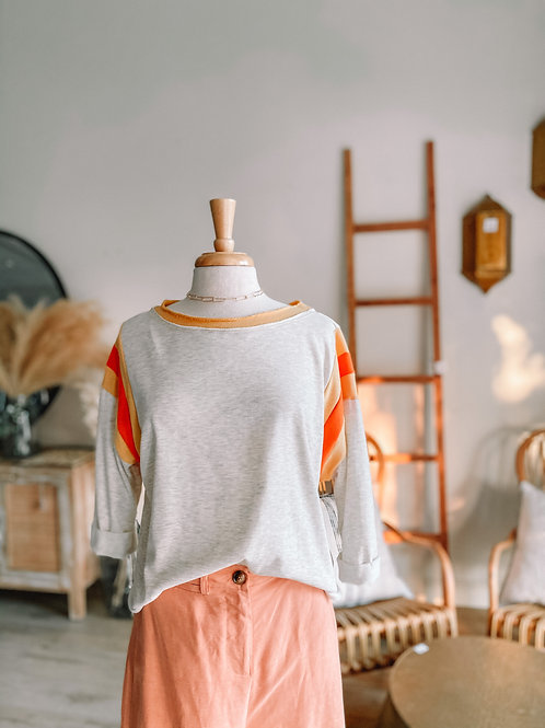 Heather Gray and Mustard Top